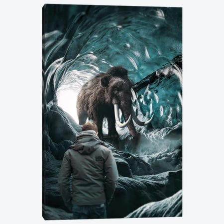 Mammoth In Hiding Canvas Print #RYK64} by Shaun Ryken Canvas Art