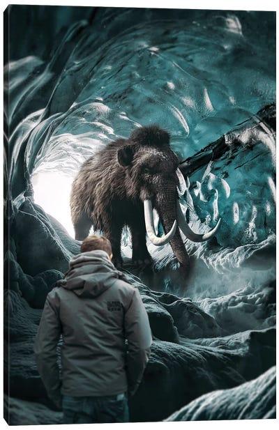 Mammoth In Hiding Canvas Art Print