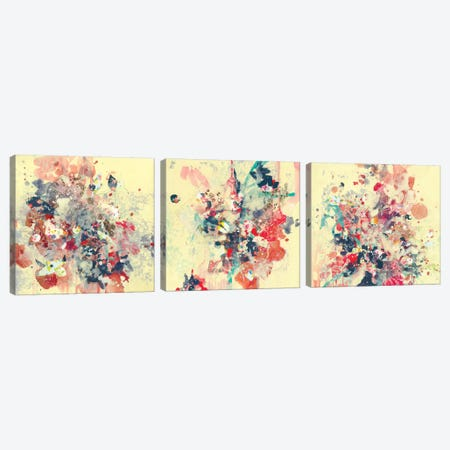 Cream Triptych Canvas Print Set #RYN3HSET001} by Kathryn Neale Art Print