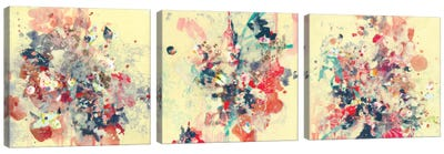 Cream Triptych Canvas Art Print