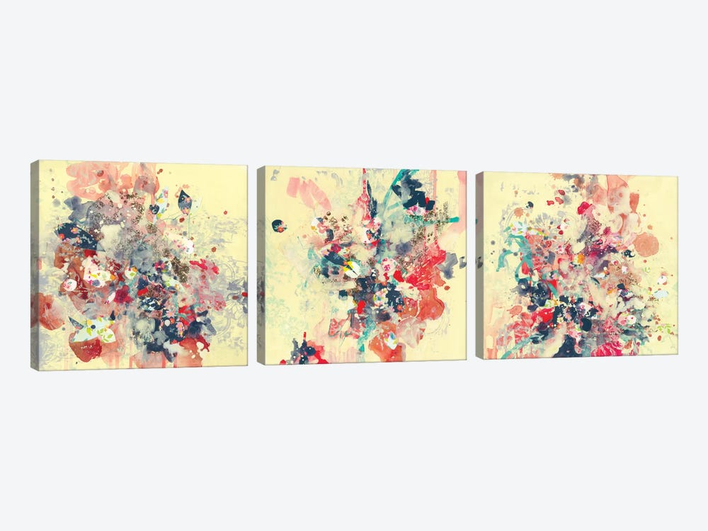 Cream Triptych by Kathryn Neale 3-piece Art Print