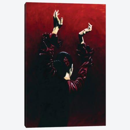 Flamenco Fire Canvas Print #RYO19} by Richard Young Canvas Art