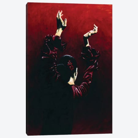 Flamenco Fire Canvas Print #RYO19} by Richard Young Canvas Art