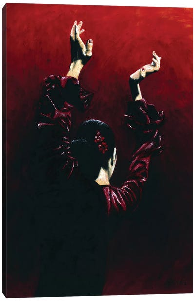 Flamenco Fire Canvas Art Print