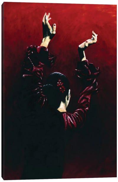 Flamenco Fire Canvas Art Print