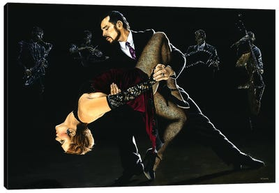 For The Love Of Tango by Richard Young Canvas Art Print