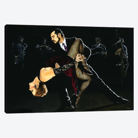 For The Love Of Tango Canvas Print #RYO20} by Richard Young Canvas Art Print