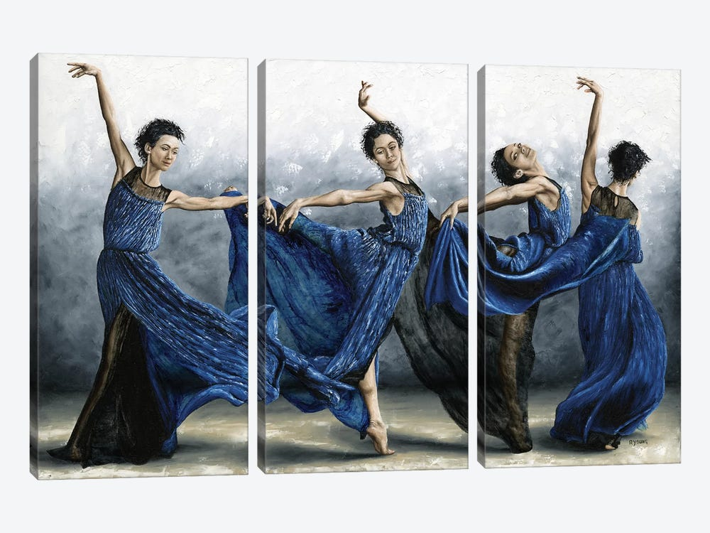 Sequential Dancer by Richard Young 3-piece Canvas Art