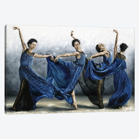 Sequential Dancer 3-Piece Canvas #RYO37} by Richard Young Art Print