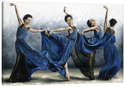 Sequential Dancer Canvas Art Print