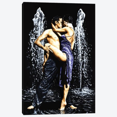 The Fountain Of Tango 3-Piece Canvas #RYO43} by Richard Young Canvas Print