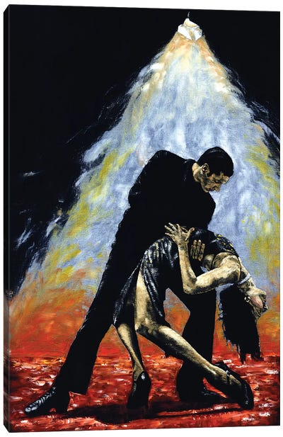The Intoxication Of Tango by Richard Young Canvas Art Print