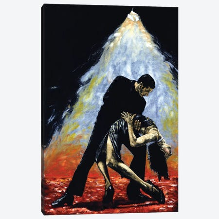 The Intoxication Of Tango Canvas Print #RYO44} by Richard Young Canvas Artwork