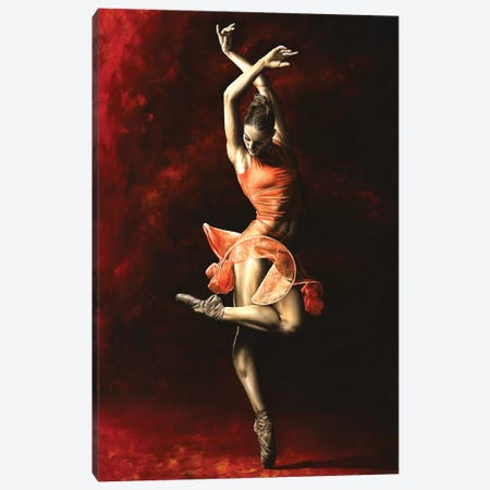 The Passion Of Dance Canvas Print #RYO46} by Richard Young Canvas Art