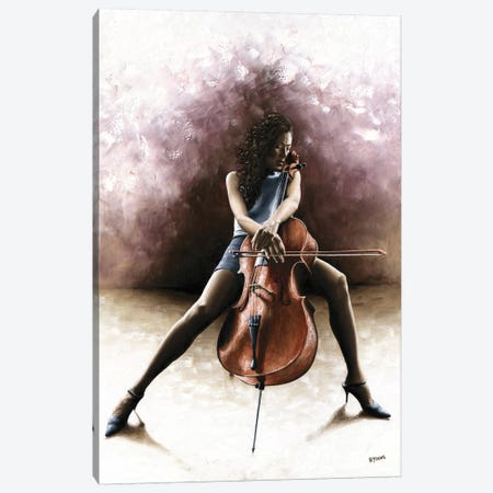 Tranquil Cellist Canvas Print #RYO47} by Richard Young Canvas Artwork