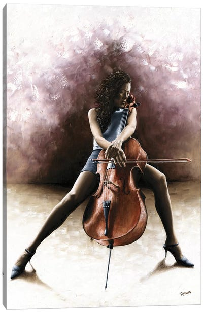 Tranquil Cellist by Richard Young Canvas Art Print