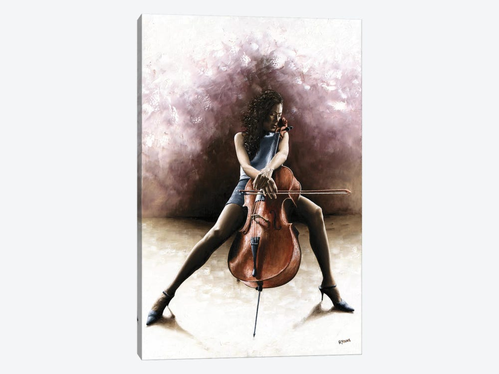 Tranquil Cellist by Richard Young 1-piece Canvas Print