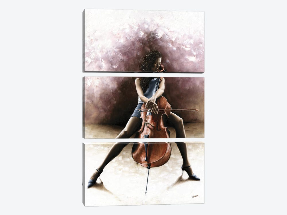 Tranquil Cellist by Richard Young 3-piece Art Print
