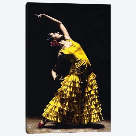 Un Momento Intenso Del Flamenco Canvas Print #RYO49} by Richard Young Canvas Art Print
