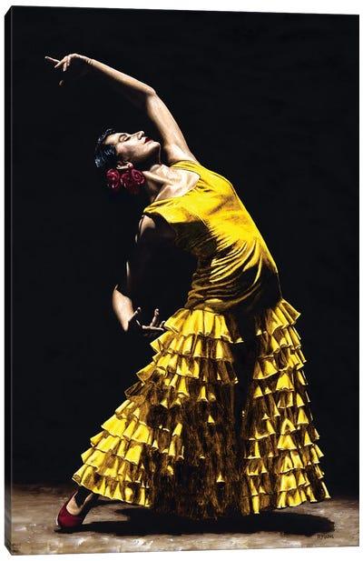 Un Momento Intenso Del Flamenco Canvas Art Print