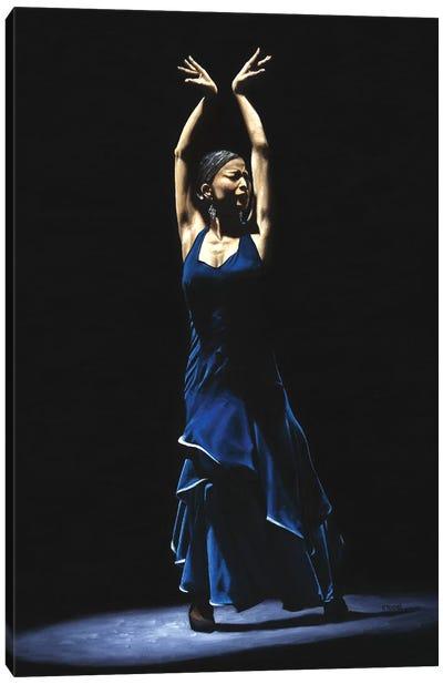 Bailarina A Solas Del Flamenco (Solo Flamenco Dancer) Canvas Art Print