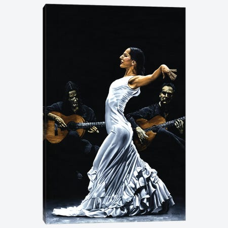 Concentracion Del Funcionamiento Del Flamenco Canvas Print #RYO5} by Richard Young Canvas Wall Art