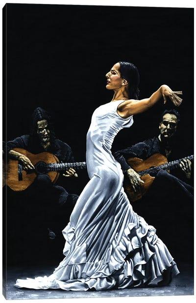 Concentracion Del Funcionamiento Del Flamenco Canvas Art Print
