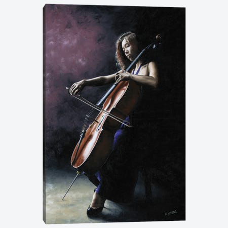 Emotional Cellist Canvas Print #RYO69} by Richard Young Canvas Print