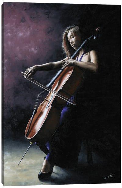Emotional Cellist Canvas Art Print
