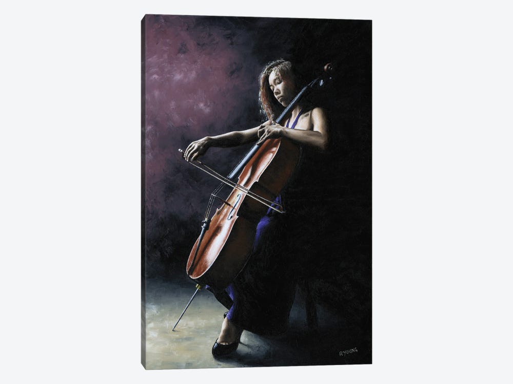 Emotional Cellist by Richard Young 1-piece Art Print
