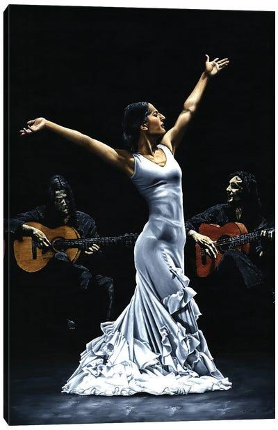 Finale Del Funcionamiento Del Flamenco Canvas Art Print