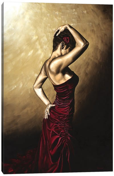 Flamenco Woman Canvas Art Print