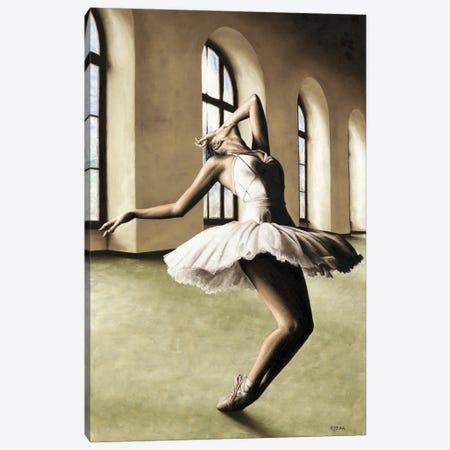 Halcyon Ballerina Canvas Print #RYO74} by Richard Young Art Print