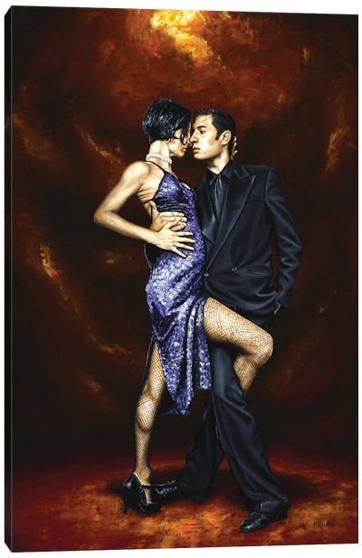 Held In Tango Canvas Art Print