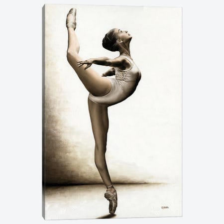 Musing Dancer Canvas Print #RYO88} by Richard Young Canvas Print