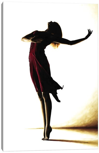 Poise In Silhouette Canvas Art Print