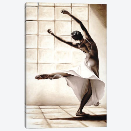 Dance Finesse 3-Piece Canvas #RYO8} by Richard Young Canvas Print
