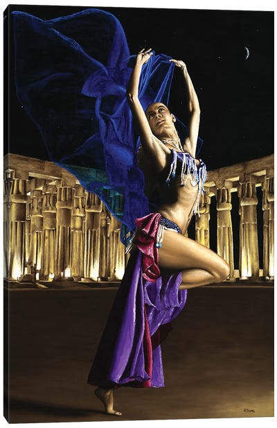 Sun Court Dancer Canvas Art Print