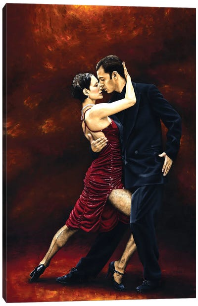 That Tango Moment Canvas Art Print