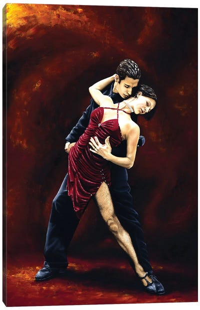 The Passion Of Tango Canvas Art Print
