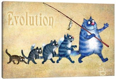 Evolution Of Cats Canvas Art Print