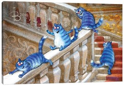 Hermitage Cats Canvas Art Print
