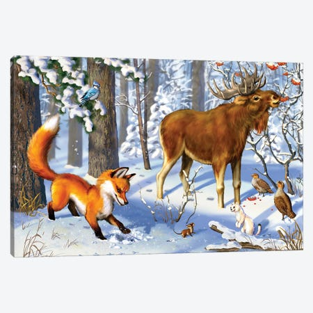 Winter Canvas Print #RZN19} by Rina Zeniuk Canvas Art Print