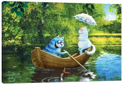 July Canvas Art Print