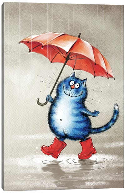 Le Chat Botte Canvas Art Print