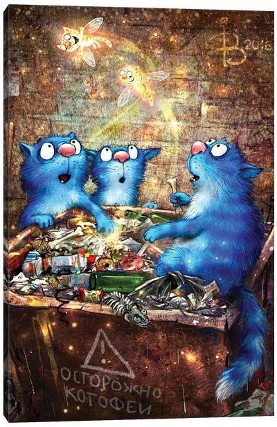 Catfairies Of Rich Trash Can Canvas Art Print