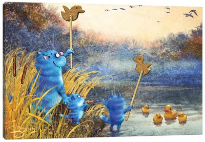 Duck Hunt Canvas Art Print