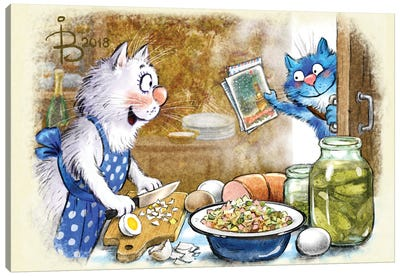 Festive Salad Canvas Art Print
