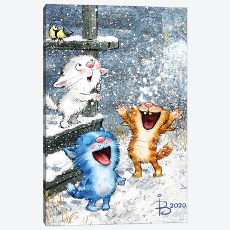 First Snow Canvas Print #RZN69} by Rina Zeniuk Canvas Wall Art