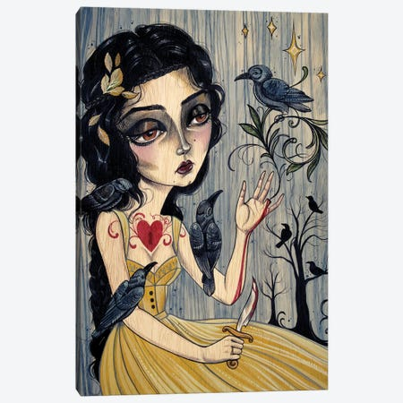 7 Ravens - Glass Cinder Thorns II Canvas Print #SAC1} by Sandi Calistro Canvas Art